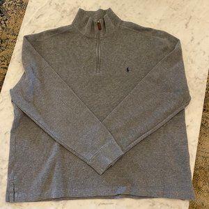 Polo Ralph Lauren Gray Quarter Zip Pullover XL